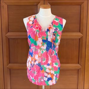 Talbots Pink Floral Sleeveless Top